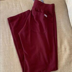 Figs Burgundy Livingston Pants XXS